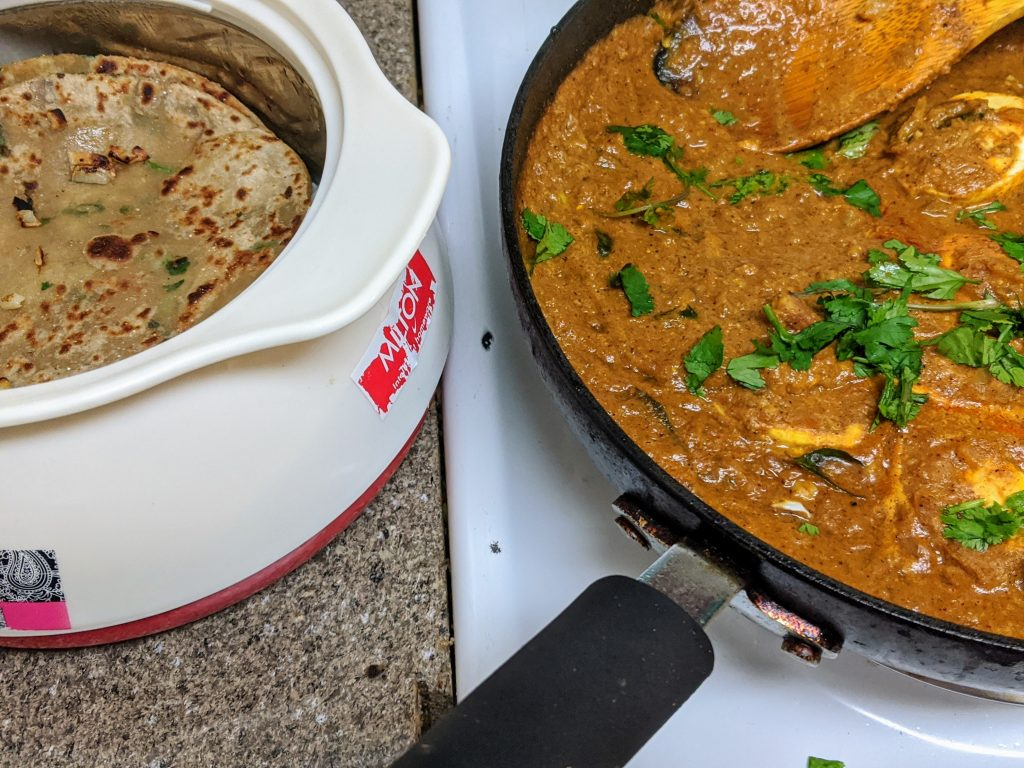 chestnut egg curry