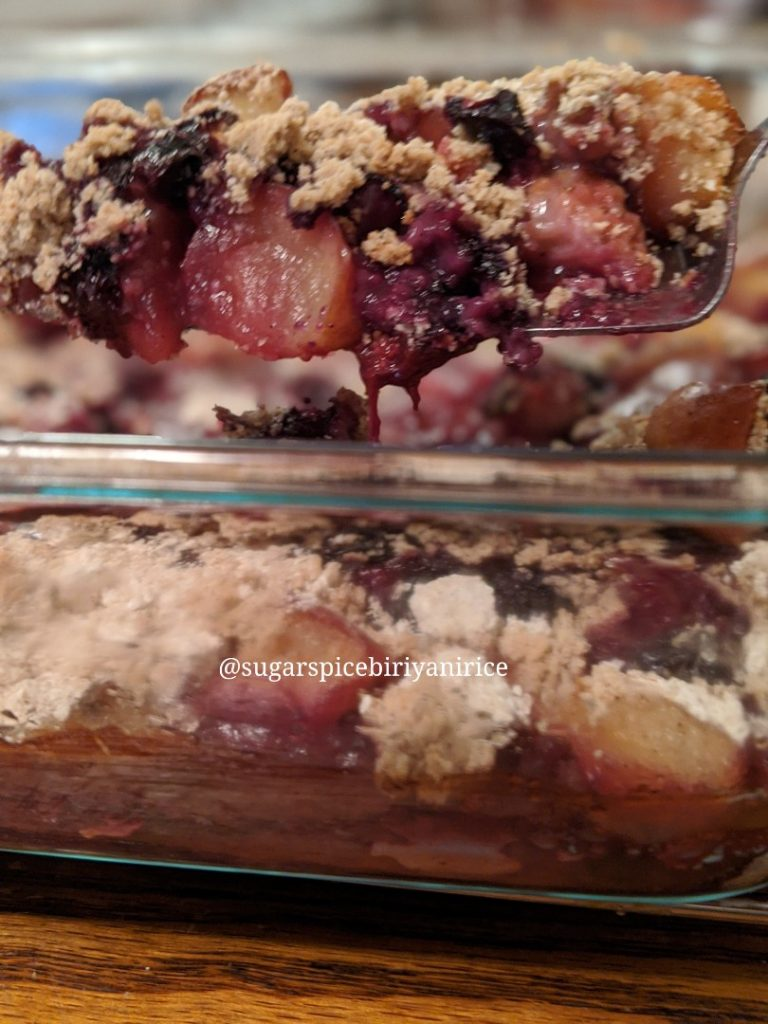 Gluten-free,sugar-free ,fruit crumble