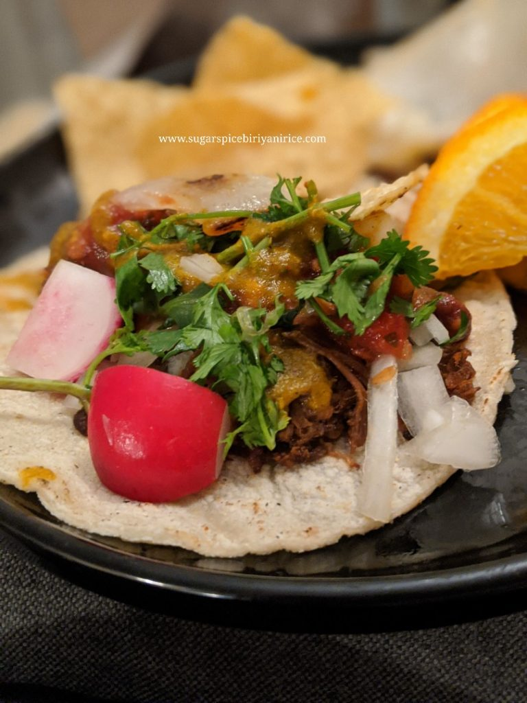 Mexican grilled tacos