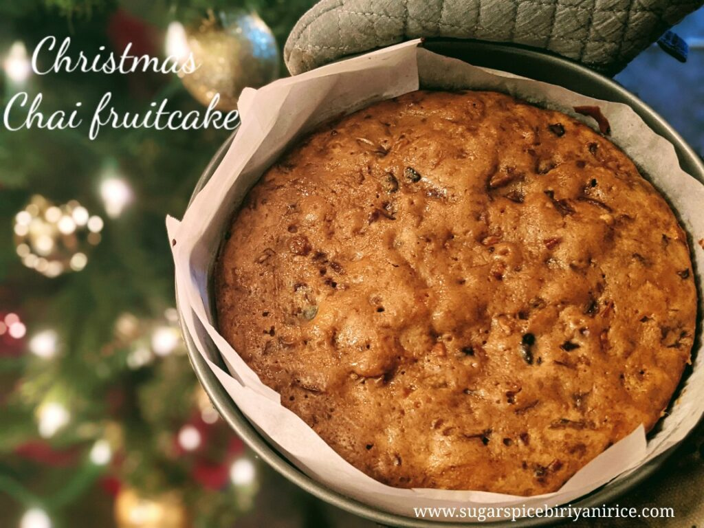 Christmas chai fruitcake